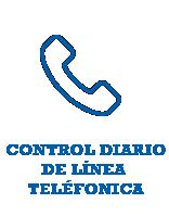 Control diario de línea telefónica