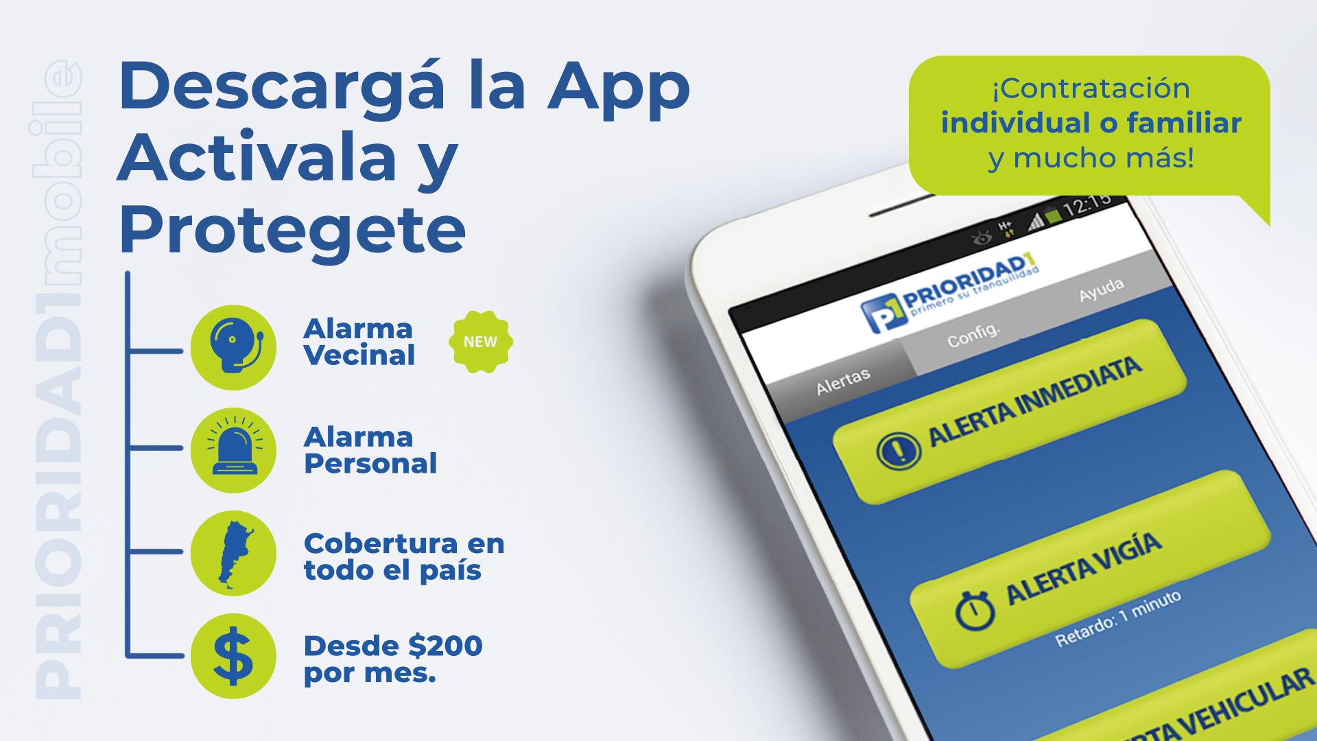 Descargá la app, activala y protegete