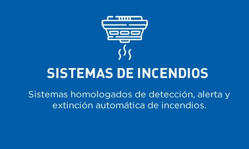 Sistema de incendios | Sistemas homologados de detección, alerta y extinción automática de incendios